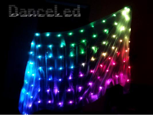 Управляемая светодиодная пиксельная шаль